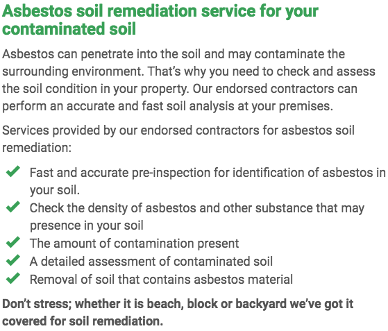 Asbestos Watch Gladstone - soil remediation right